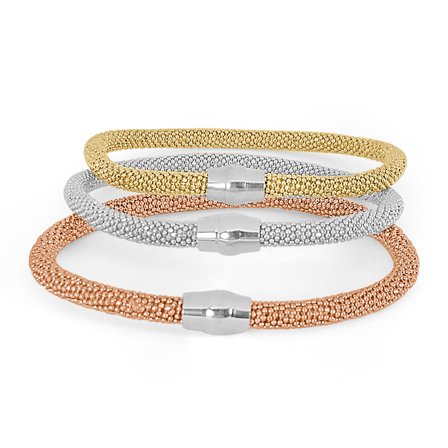 Stackable Bracelet With Magnetic Clasp