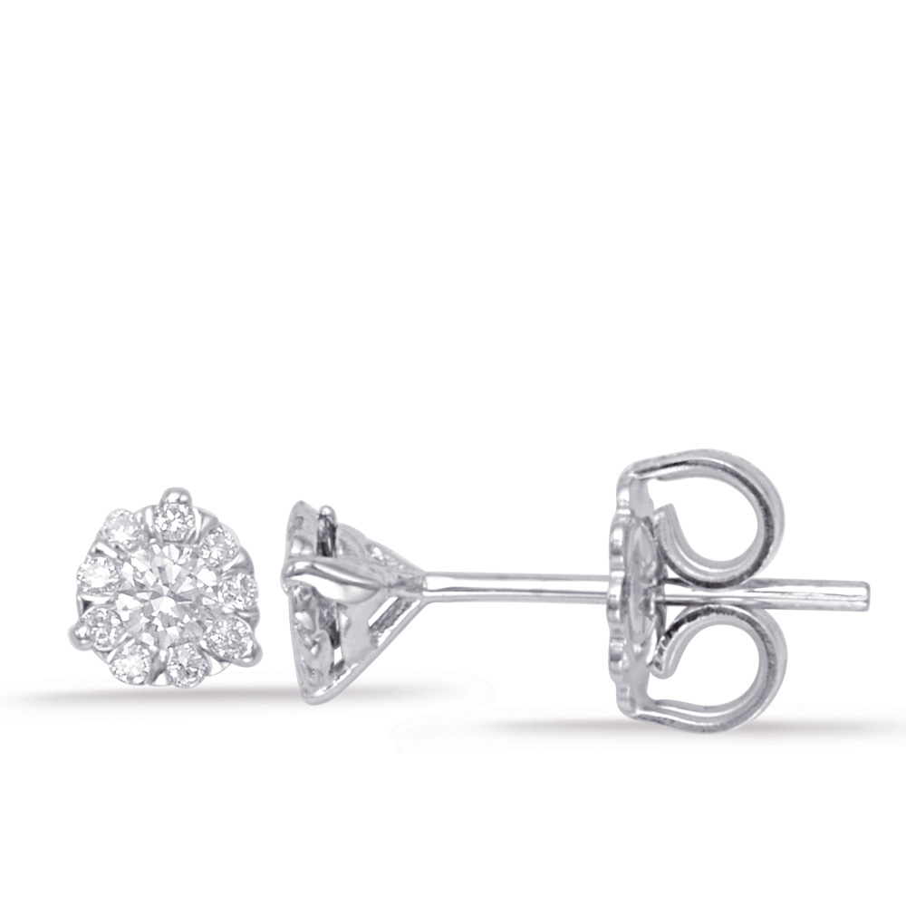 platinum earrings stud four w union diamond prong